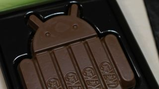 You can choose your default SMS app in Android KitKat