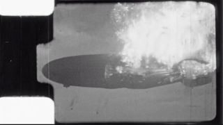 Unlike most images of the fire, footage captured by amateur photographer Harold Schenck showed the burning Hindenburg from nose to tail, in the moments after a hydrogen leak set the airship ablaze.