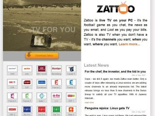 Zatoo - now offers broadcast quality live television on your PC or Mac