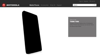 Motorola Droid Ultra pops up on Moto website advises you to Think Thin