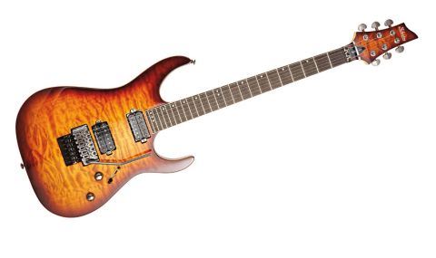 The Banshee features a Floyd Rose 1000 Series vibrato, Grover tuners and Seymour Duncan humbuckers - impressive, given the price