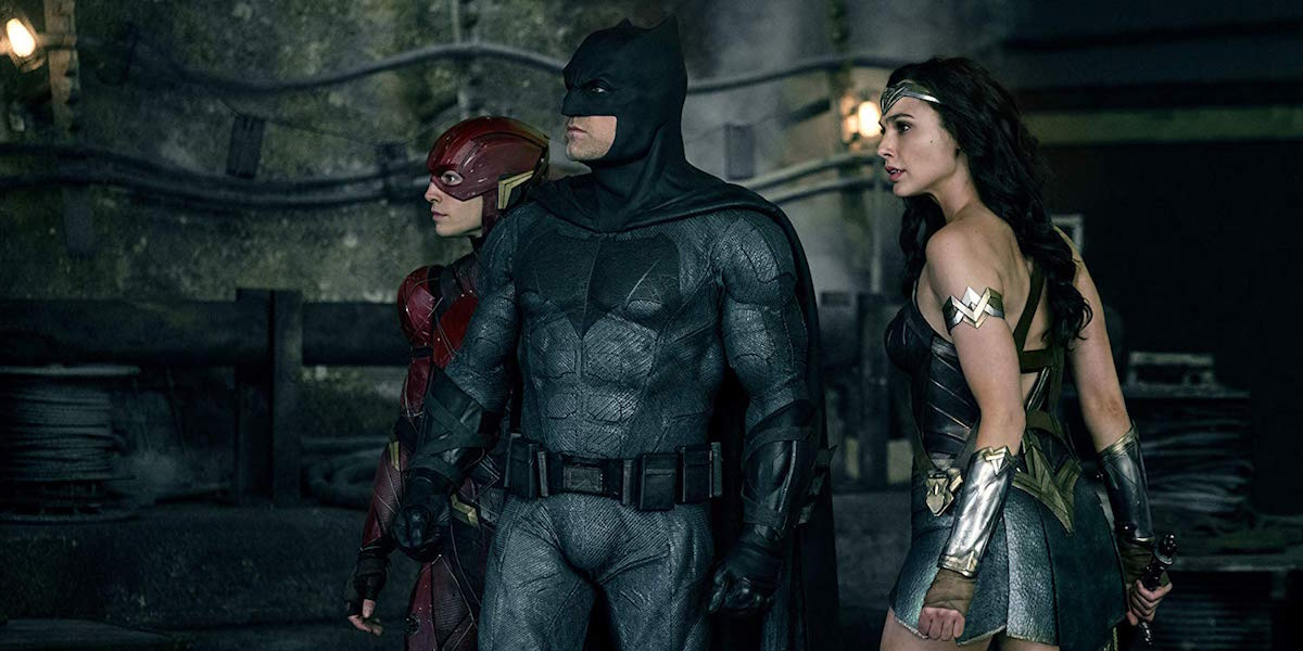 Batman, Wonder Woman and Flash in Justice League
