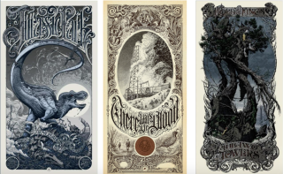 Prints by Aaron Horkey, provided courtesy of Mondo to benefit Tim League's archive auction.