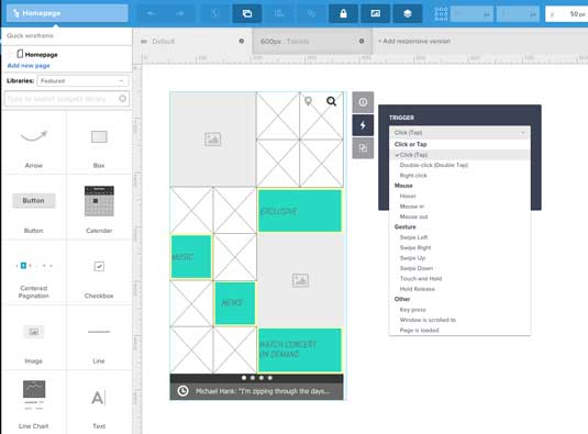 Design responsively with wireframes