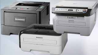 A trio of Lenovo printers