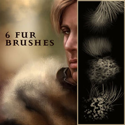 Photoshop brushes: fur brush set