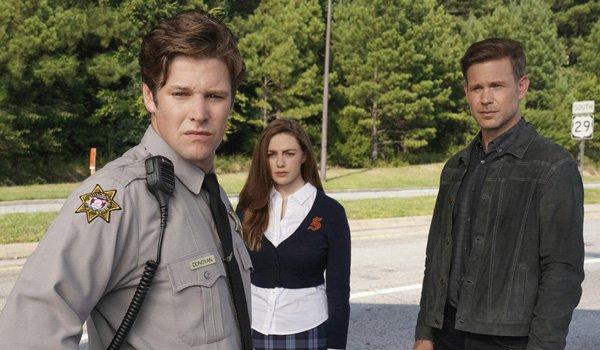 Matt Roerig Danielle Rose Russell and Matthew Davis on Legacies on The CW