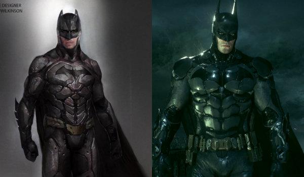 Ben Affleck Dawn of Justice concept vs Arkham Knight Batsuit