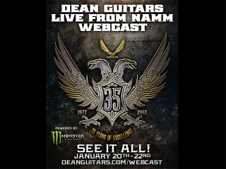 Dean is celebrating 35 years in the business at NAMM 2012