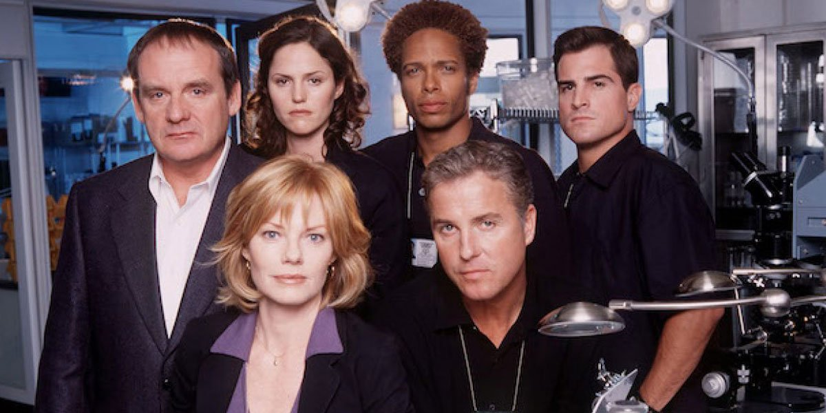 CSI original cast early 200s promo photo CBS