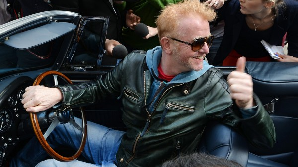 Chris Evans leaves the BBC Radio studios