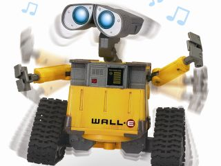 WALL E doing funky bio robotic style