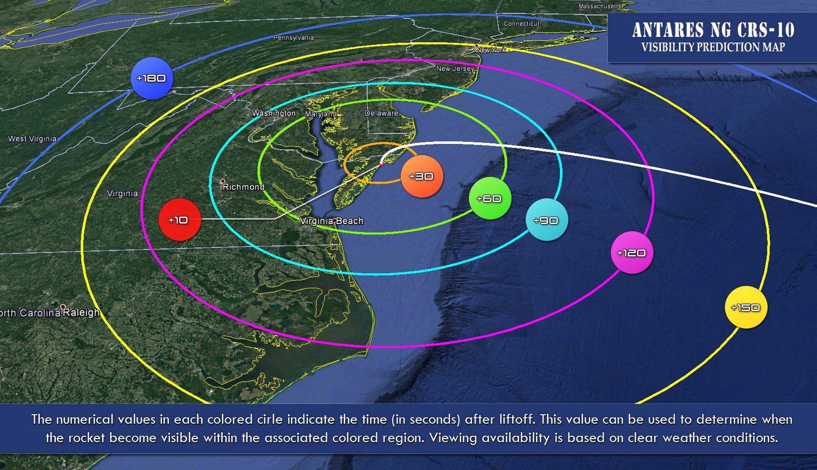 Predawn Antares Rocket Launch Saturday Will Be Visible Along