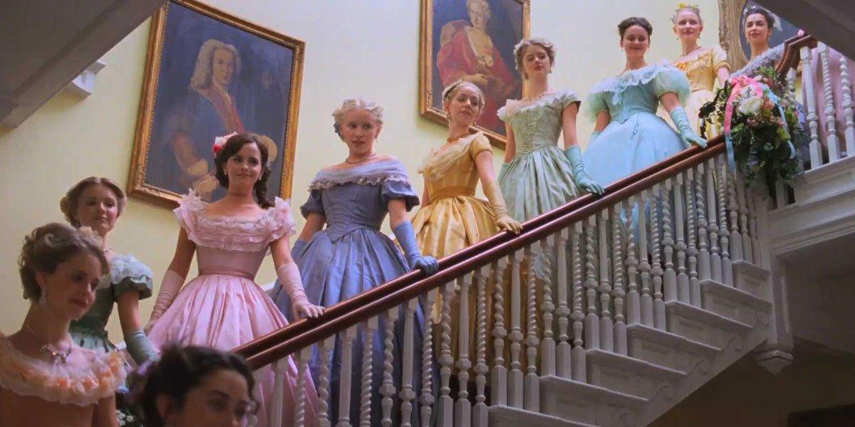 Meg's pink dress in Little Women 2019
