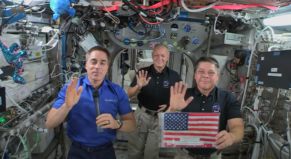 Astronauts celebrate Fourth of July from space station - Space.com