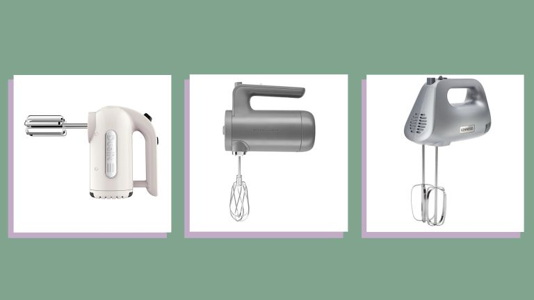 a collage image of a selection of the best hand mixers