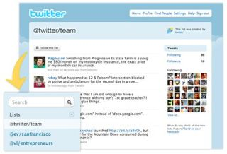 Twitter adding List functionality