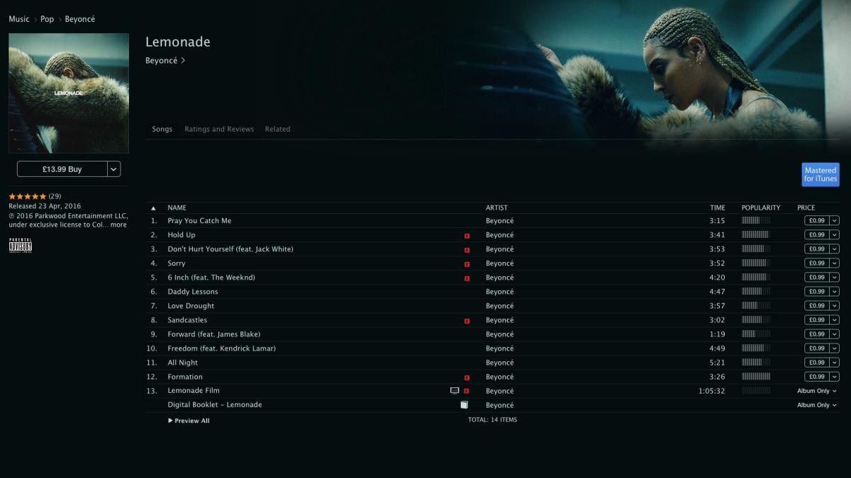 Beyoncé's new album Lemonade is the latest Tidal exclusive [Update