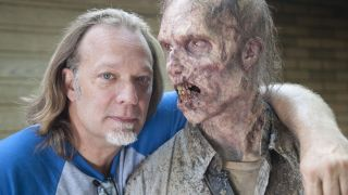 Greg Nicotero with walker
