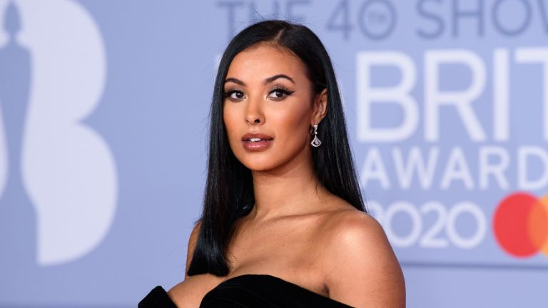 Maya Jama attends The BRIT Awards 2020 at The O2 Arena on February 18, 2020 in London, England.