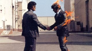 The cover of Pink Floyd's Wish You Were Here album
