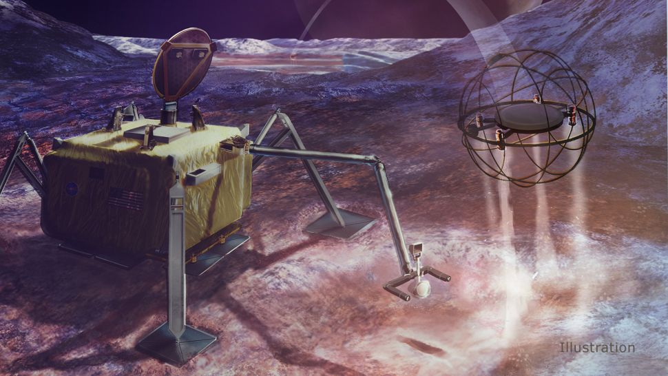 Steampunk space exploration? Icy moon robot could hop around on steam power.