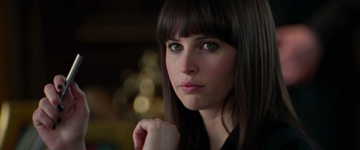 Felicity Jones The Amazing Spider-Man 2 board room scene