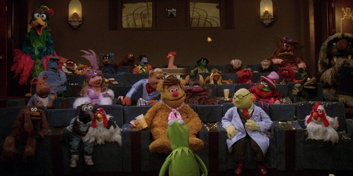 Muppets inside movie theater