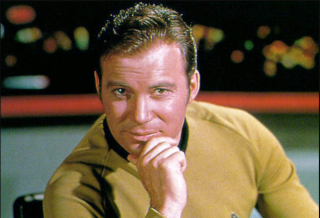 """William Shatner as Captain James Tiberius Kirk from """"Star Trek: The Original Series."""""""