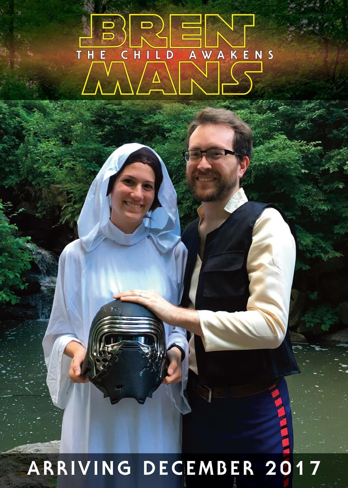 Star Wars baby Announcement