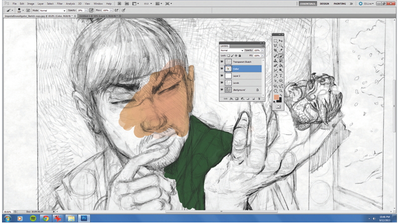 Create a transparent version of a drawing in photoshop creative bloq