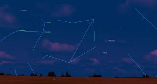 Venus near the Moon october skywatching