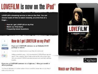 LoveFilm arrives on the Apple iPad