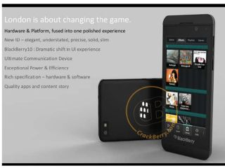 BlackBerry London pictures land with superphone styling
