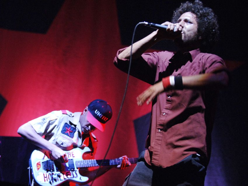 rage against the machine perform killing in the name uncensored musicradar. Black Bedroom Furniture Sets. Home Design Ideas