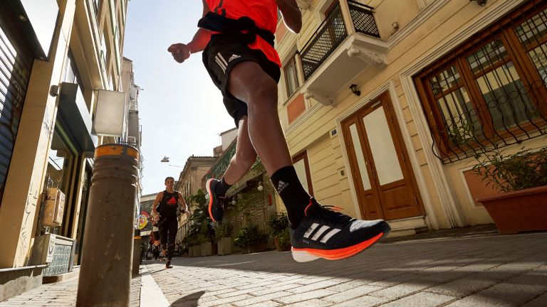 The new Adidas SL20 running shoes in action