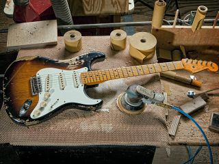 Get your hands on a Fender Custom Shop instrument like this on the night!