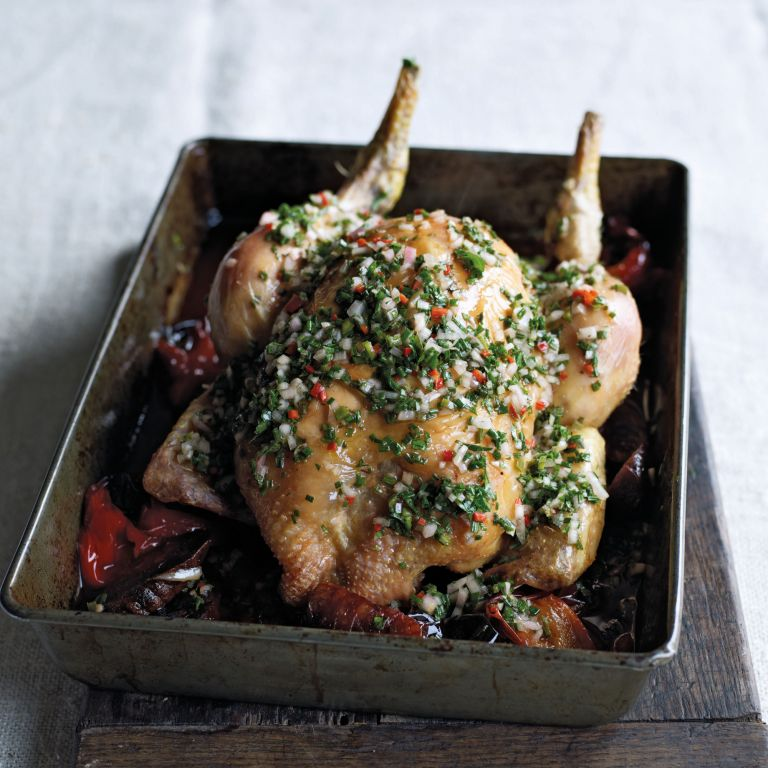 Roast Chicken photo from James Martin Slow Cooking