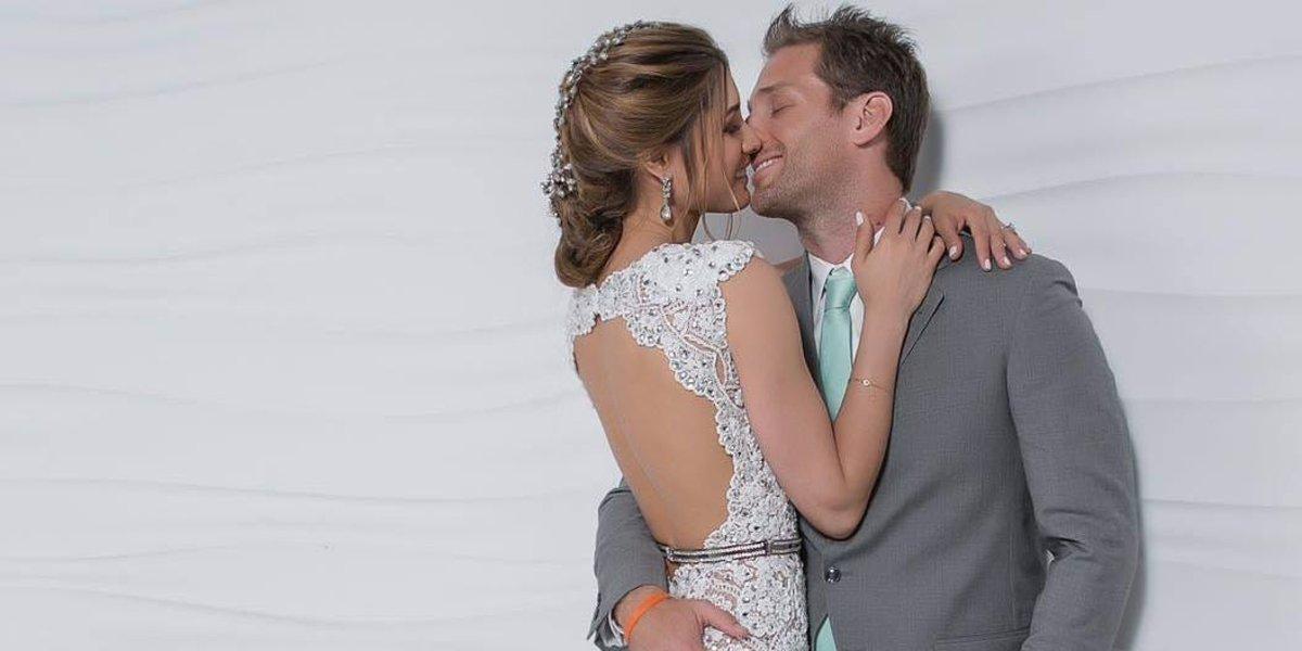 Osmariel Villalobos and Juan Pablo Galavis at their wedding