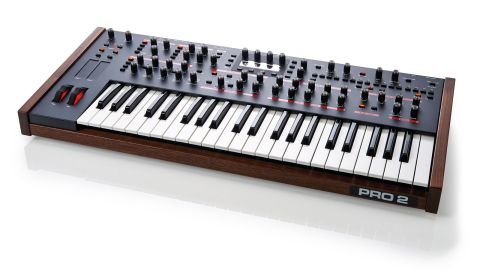 The P2's 44-note keyboard feels great for all playing styles and has velocity and aftertouch