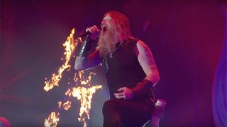 Amon Amarth performing live at Bloodstock