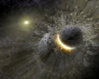 Moon's Birth in a Collision