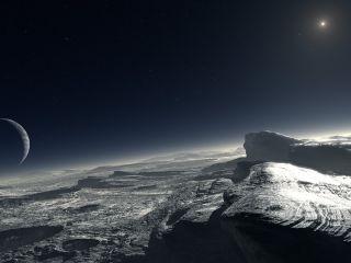 Pluto's Surface: Artist's Illustration
