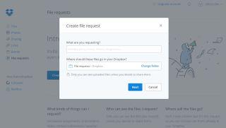 Dropbox request