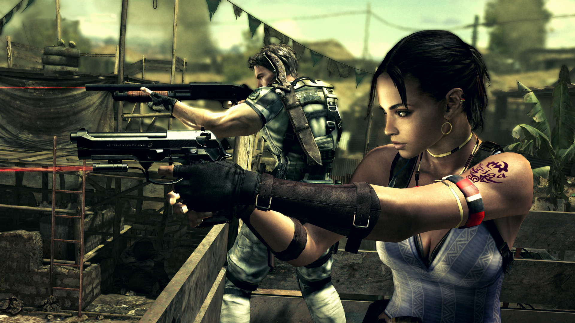 Resident Evil 5 Gold Edition Doesn T Support Splitscreen Mod Pc Gamer