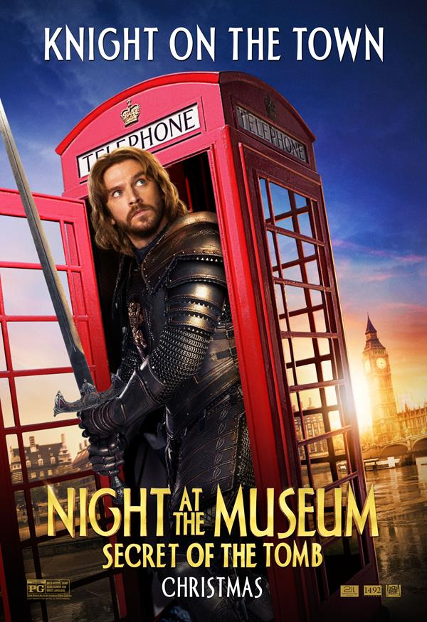 Night at the Museum: Secret of the Tomb Poster Dan Stevens