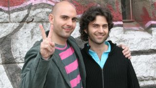 Ahmet and Dweezil Zappa in 2005
