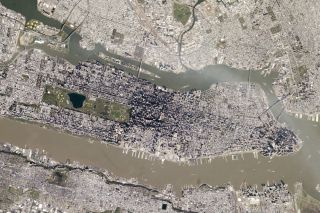 The island of Manhattan seen from space on May 5, 2014.