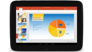 Microsoft Office for Android running on Nexus 10.