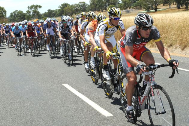 Stage 2 Tour Down Under Andre Greipel HTC Columbia Greg Henderson Team Sky Lance Armstrong Team RadioShack